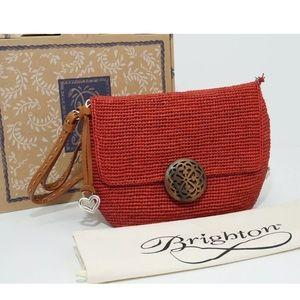 🆕 2019 Brighton Madra Raffia Flap Handbags Red